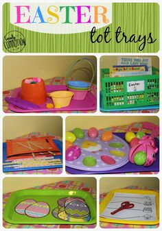 easter tot trays
