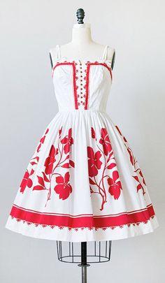 1950s Red dress. So cute!