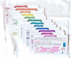 Beautiful Flashcards! Studyblr