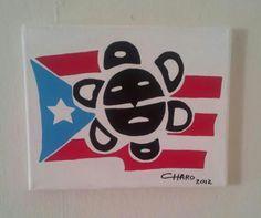 Bandera de Puerto Rico y sol de Jayuya Puerto