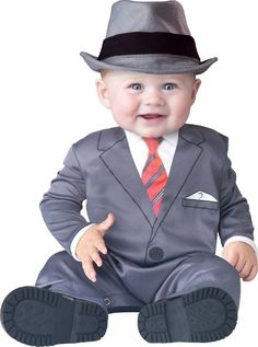 Baby Blues Brothers Businessman Mobster Gangster Sinatra Halloween Costume 6-12…