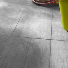Carrelage sol gris clair effet béton Industry l.30.5 x L.60.5 cm