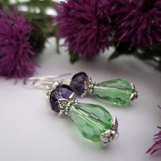 A taste of Scotland... Scottish Thistle Crystal Earrings