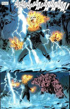 Ghost Rider (Alejandra Jones): Lightning Summoning Marvel Dc, Marvel Comics, Spirit Of Vengeance, Superhero Facts, Flash Comics, Ghost Rider Marvel, Spiderman Art, Comic Page, Horror Art
