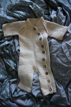 knitted organic cotton onesie