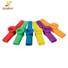 Senrhy New Arrival Plastic Mouth Flute Kazoo Instrument For Kids Party Gift Music Lovers Mixed Color Kid Musical Instruments #Affiliate