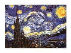 The Starry Night, c.1889 by Vincent Van Gogh art print