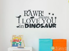 Rawr! Means I Love You in Dinosaur • Bedroom Decor • Boy or Girl • Playroom Decor •Vinyl Wall Art Words Decals Graphics Stickers Decals 1803 by thestickerhut on Etsy