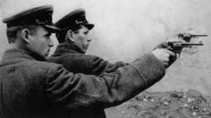 One of the most unique Russian vintage military revolvers, was in fact a Belgian designed firearm, the Nagant Model 1895 Revolver Eastern Front Ww2, Bolshevik Revolution, Stalinist, The Bolsheviks, Central And Eastern Europe, Holocaust Survivors, Soviet Union, World War Two, Retro
