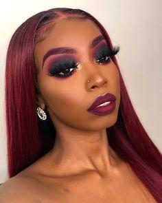 Flawless Makeup, Glam Makeup, Gorgeous Makeup, Pretty Makeup, Beauty Makeup, Hair Makeup, Makeup For Black Skin, Makeup Eye Looks, Black Girl Makeup