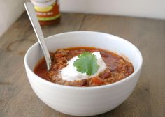 A recipe for Chili in an Instant Pot® pressure cooker - visit www.instantlydelicious.com for recipe