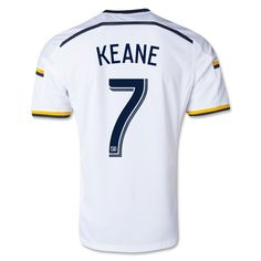 02c935472 Men s 2014 15 Los Angeles Galaxy Robbie Keane 7 Home Soccer Jersey Galaxy  Homes