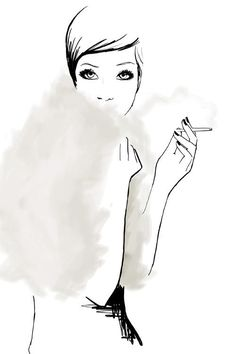 smoking is only attractive in classy photos, on cute paul-mccartney-looking boys from a distance, and in this sketch.