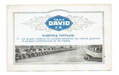 Publicidad de los Taxis David años 40