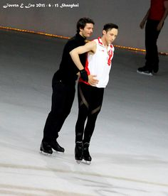 Johnny & Stéphane practising Ice Skating, Figure Skating, Stephane Lambiel, Johnny Weir, Badass, Skate, Sports, Beautiful, Hs Sports