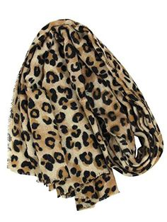 86dea0a723af DAMILY Femmes Hiver Trendy Léopard Imprimé Animal Echarpe Châle Wrap  Élégant Long Pashmina Couverture Foulards (