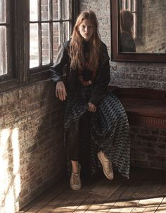 From the Spring/Summer 2016 collection, the maxi printed dress is featured in the latest Numero Magazine issue.