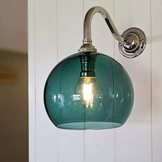 The Soho Teal Blue Handblown Glass Globe Wall Light is lovingly handcrafted in the UK. Glass Wall Lights, Bathroom Wall Lights, Barn Lighting, Outdoor Wall Lighting, Interior Wall Lights, Lighting Companies, Light Teal, Glass Globe, Beautiful Lights