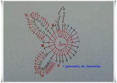 Fiore portaposate a uncinetto per le nostre tavole: i tutorial di Camilla Crochet Motif, Easy Crochet, Charts, Shabby Chic, Camilla, How To Make, Christmas, Pandora, Crafting