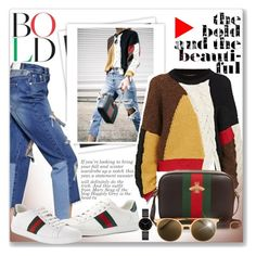 """""""Bold"""" by sjkfavorites ❤ liked on Polyvore featuring GALA, Étoile Isabel Marant, Gucci, Italia Independent and Myku"""