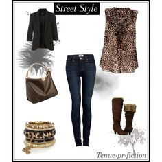 """""""Leopard Street style"""" by taniacv on Polyvore"""