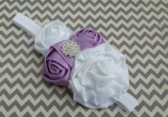 Hey, I found this really awesome Etsy listing at https://www.etsy.com/listing/231681657/purple-white-headband-baby-girl