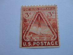 1848-1948 Texas 3c Old U.S. 1948-1949 Postage Stamp.