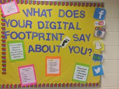 "Busy Bee School Counseling: ""Digital Footprint"" Bulletin Board: High School Co..."
