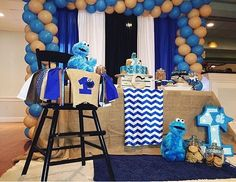 Birthday party ideas birthday party desserts cookie monster and birthday party boys birthday highchair birthday ideas monster baby showers cookie monster party baby shower cookies birthday cookies carnival parties voltagebd Images
