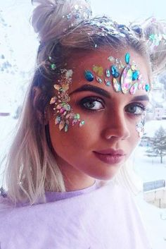 Coachella Makeup Inspired Looks To Be The Real Hit ★ See more: http://glaminati.com/coachella-makeup-looks/ #makeup #makeuplover #coachella #coachellamakeup