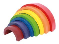 Seven piece wooden rainbow toy Waldorf Montessori, Montessori Playroom, Montessori Baby, Peppa Pig Treehouse, Arco Iris Waldorf, Grands Arcs, Kids Toys For Boys, Wooden Building Blocks, Wooden Arch