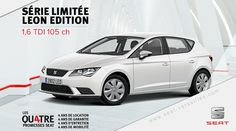 [Offre] SEAT Leon Edition 1.6 TDI 105 ch http://www.seat-versailles.com/actualites-seat-sporting-autos/55/offre-seat-leon-edition-16-tdi-105-ch   #seat #leon #cars #voiture #versailles