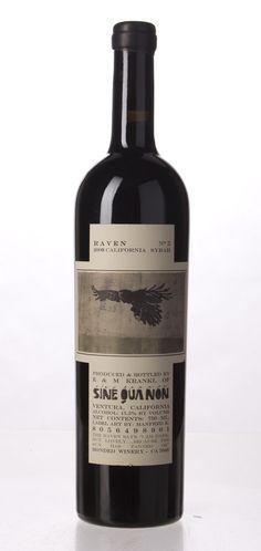 Sine Qua Non Raven Series Syrah, Santa Barbara County, USA