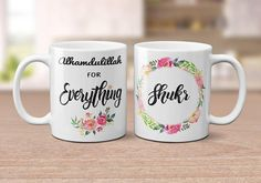 Your place to buy and sell all things handmade Islamic Gifts, Islamic Art, Alhamdulillah For Everything, Bouquet Box, Muslim Family, Ramadan Gifts, Mug Printing, Eid, Birthday Wishes