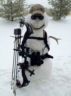 Archery Snowman! So cute!