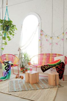 Plum & Bow Striped Loveseat #urbanoutfitters