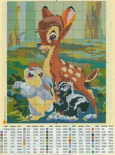#crossstich #xstitch Bambi in cross stitch
