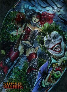 Joker and Harley Quinn by Melike Acar Madly In Love, Joker And Harley Quinn, Gotham City, Marvel Comics, Batman, Fandoms, Retro, Sexy, Blog