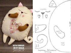 molde almofada de gatinho