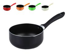 Non-stick Milk Pan - BLACK. Sizes: 16cm / 18cm / 20cm / 22cm