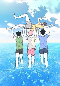 Just a tons of Haikyuu photos. Oikawa Tooru, Haikyuu Karasuno, Iwaoi, Hinata, Haikyuu Funny, Haikyuu Fanart, Manga Anime, Gekkan Shoujo, Volleyball Anime