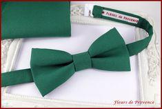 Set Noeud Papillon et pochette costume Vert émeraude  Homme /