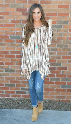 This Tops Comfy Material And Flattering Fit Is Tie-Dye For!