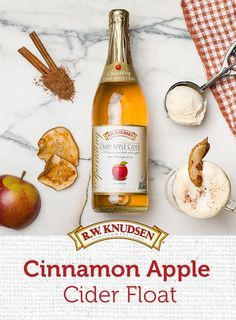 This Cinnamon Apple Cider Float is sweet and simple. Combine your favorite vanilla ice cream with a bottle of our Sparkling Crisp Apple Cider and a touch of cinnamon for the perfect fall dessert! Find this and other great recipes now.