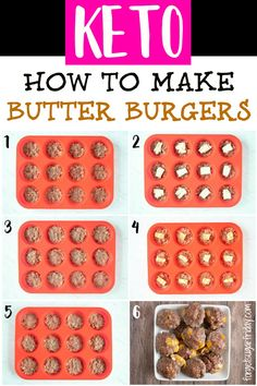"""KETO Butter Burgers - yum! I like to call these """"the ultimate savory fat bomb"""" and you'll see why when you try these delicious keto fat bombs of flavor. 10g fat per burger and ZERO carbs, making them the perfect keto diet recipe. #keto #ketorecipes #ketodiet #fatbombs"""