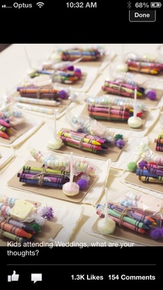 Kids stuff wedded wonderland..can help with learning colors too..fill each pouch with same color  groups!