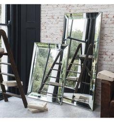Full length glass framed mirror