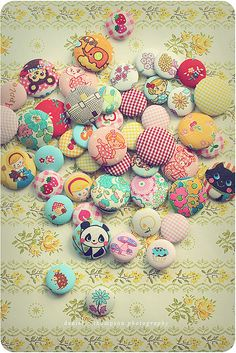 Pretty covered buttons