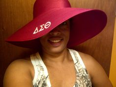 I need this hat in my life. Soror President was rocking a black one that I also need in my life.