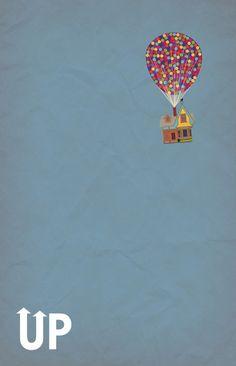 Childrens movies minimalist art | Disney Pixar's Up ~ A Minimalist Poster Art Print by Bluebird Design ...